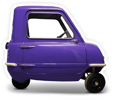 A tiny purple car