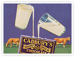 An early ad featuring the 'Glass and a Half' symbol.
