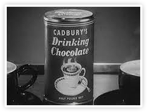 An ad for Cadbury's drinking chocolate, the first to appear on TV.