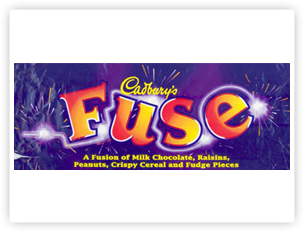 Cadbury Fuse packaging.