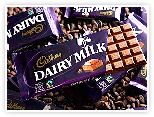 Cadbury Dairy Milk - Fairtrade certified since 2009.
