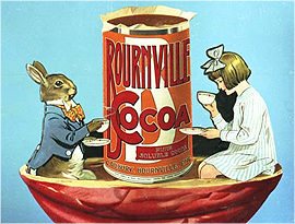 Alice in Wonderland - An early Bournville cocoa ad.