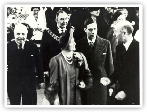Bournville welcomes King George VI and Queen Elizabeth on a tour that formed part of the programme of their visit to Birmingham on March 1st 1939.