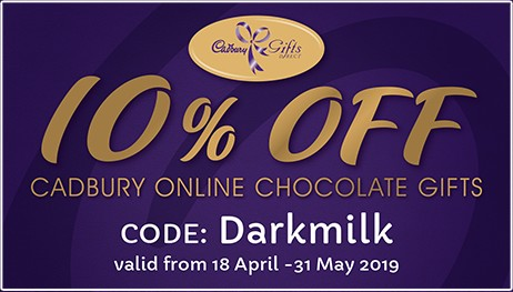Cadbury Darkmilk Coupon - 10% off
