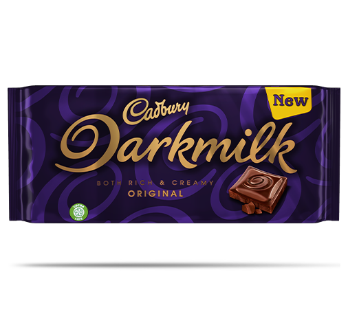 Cadbury Darkmilk, both rich and creamy